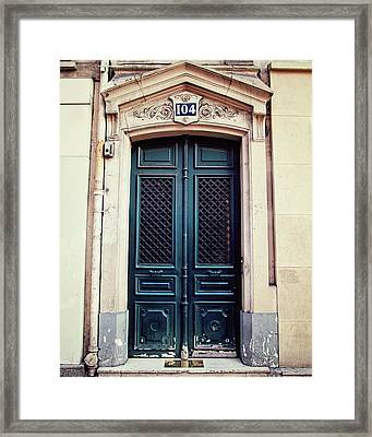 No. 104 - Paris Doors Framed Print