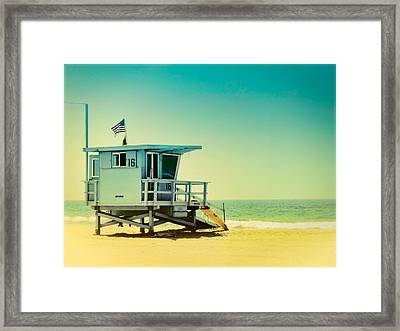 Framed Print featuring the photograph No 16 - Wish You Were Here by Douglas MooreZart