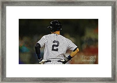 No 2, The Captain, Derek Jeter Framed Print