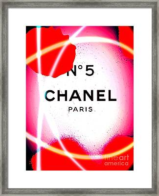No 5 Pink Framed Print by Daniel Janda