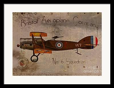 Plane Nose Framed Prints