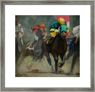 No. 6 To Win Framed Print by Heather Burton