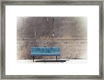 No Ball Playing - Bench Framed Print