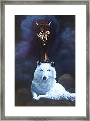 No Better Friend. No Worse Enemy Framed Print by Charles Wallis