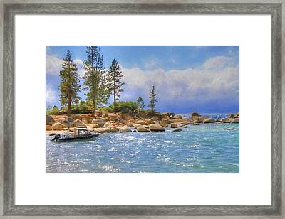 No Boating Today Framed Print