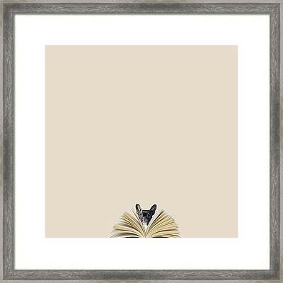 No Book No Party Framed Print by Caterina Theoharidou