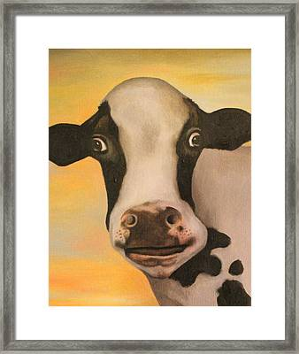 No Bull Detail 2 Framed Print by Leah Saulnier The Painting Maniac