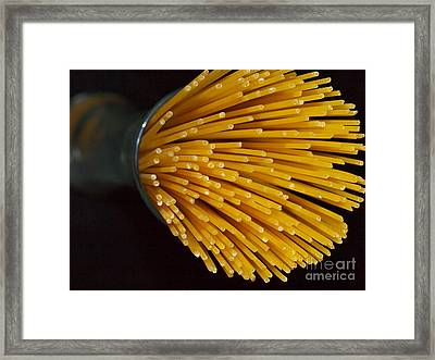 No Cook Spaghetti Framed Print