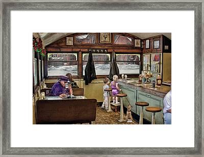 No Dogs Allowed Diner .... Framed Print