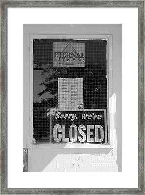 No Eternity Framed Print by Lionel F Stevenson