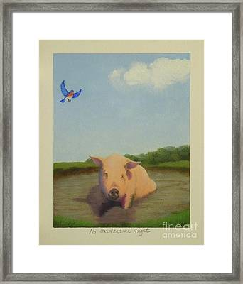 No Existential Angst Framed Print