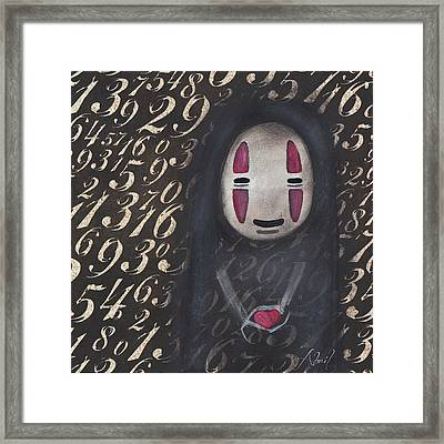 No Face With A Heart Framed Print