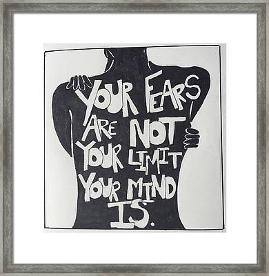 No Fears, No Limits Framed Print by Sara Young