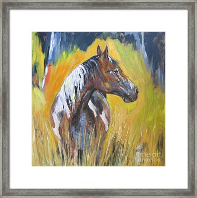 Framed Print featuring the painting No Fences by Debora Cardaci