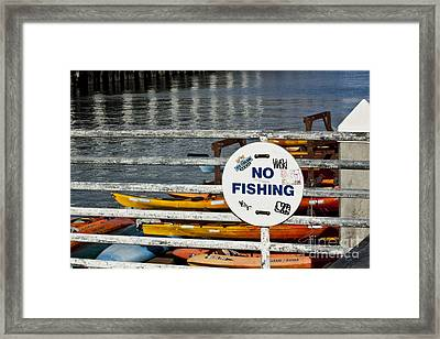 No Fishing   A World Of Words Series Framed Print by Mark Hendrickson