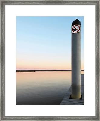 No Fishing Framed Print by Ken Howard
