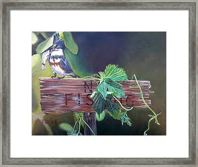 No Fishing Framed Print by Marilyn  McNish