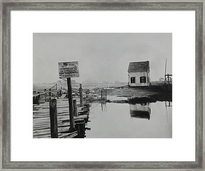 No Fishing Framed Print by Richard Barone