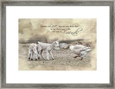 Framed Print featuring the photograph No Greater Love by Robin-Lee Vieira