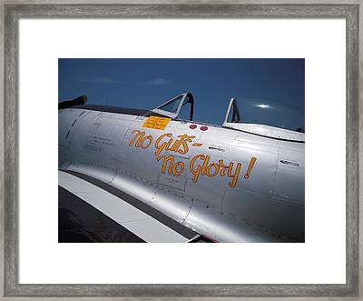 No Guts - No Glory P-47 Framed Print