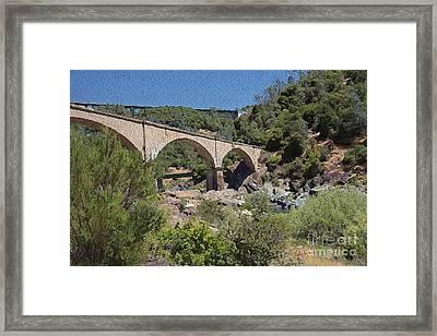No Hands Bridge Framed Print by Anthony Forster