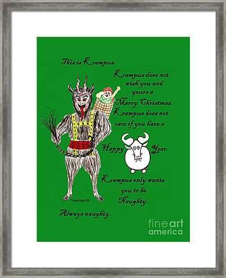 No Happy Gnu Year Framed Print