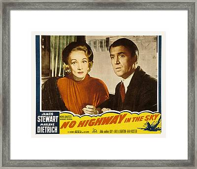 No Highway In The Sky, Marlene Framed Print