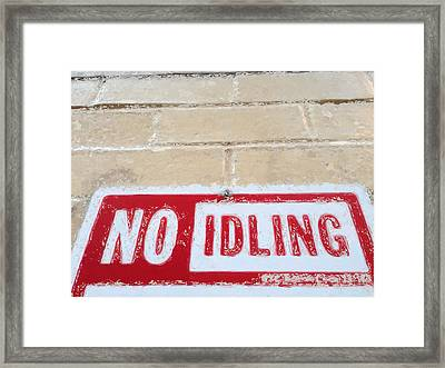 No Idling Framed Print by Rob Keay