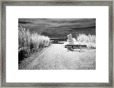 No Launching Infrared Framed Print