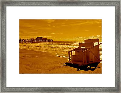 No Lifeguard Framed Print by Joe  Burns