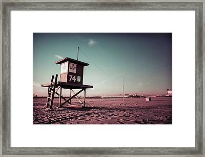 Framed Print featuring the photograph No Lifeguard On Duty by Joseph Westrupp