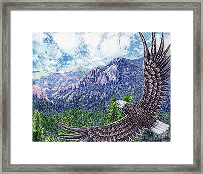 No Limits For The Wing Framed Print