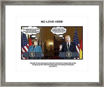 No Love Here Framed Print