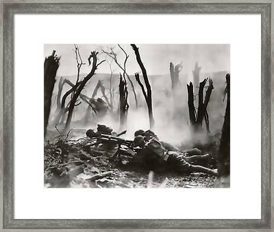 No Man's Land - Trench Warfare - World War One Framed Print by Daniel Hagerman
