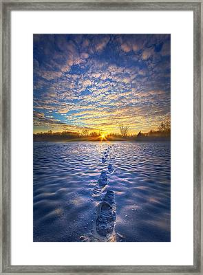 No Matter Where I Am You Will Always Be With Me Framed Print by Phil Koch