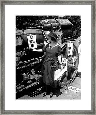 No More War Womans Protest 1922 Framed Print