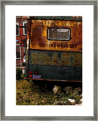 No Need For The Black Maria Framed Print by Jay Ressler