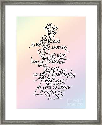 No One Has Seen God Framed Print