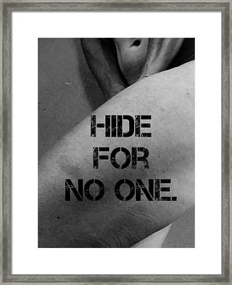 No One Framed Print by Sara Young
