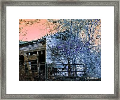 Framed Print featuring the photograph No Ordinary Barn by Betty Northcutt
