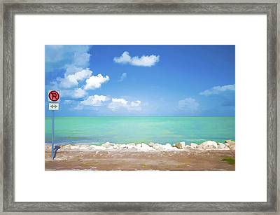 No Park Overseas Highway Us 1 Framed Print