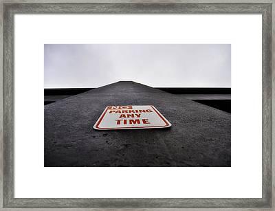 No Parking Any Time Framed Print by Pelo Blanco Photo