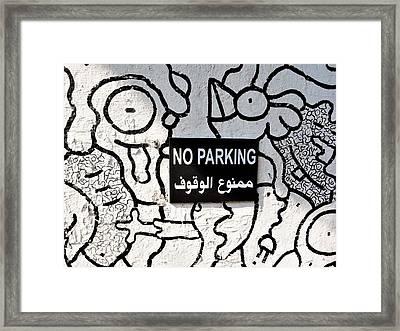 No Parking In Beirut  Framed Print