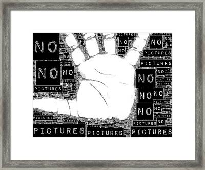 No Pictures Framed Print