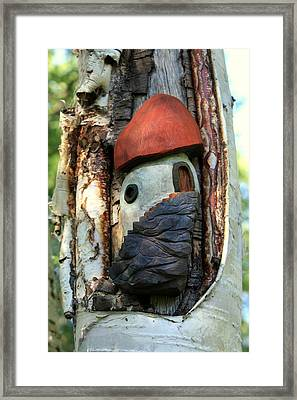No Place Like Gnome Home Iv Framed Print by Eric Knowlton