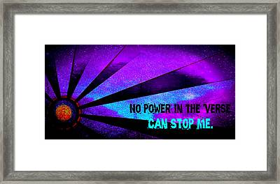 No Power In The Verse Framed Print by Catherine McCoy
