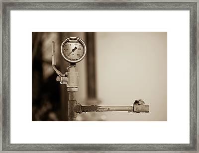 No Pressure Framed Print
