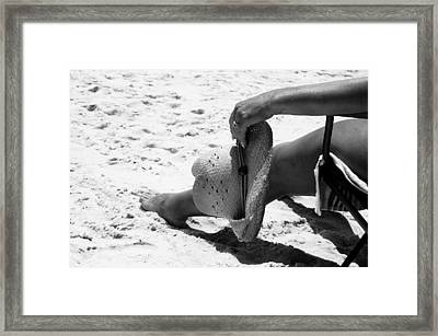 No Problems Framed Print by Beverly Hammond