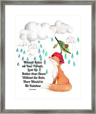 No Rain On My Parade Framed Print by Colleen Taylor