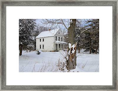 No Respite From The Cold Framed Print by Scott Kingery